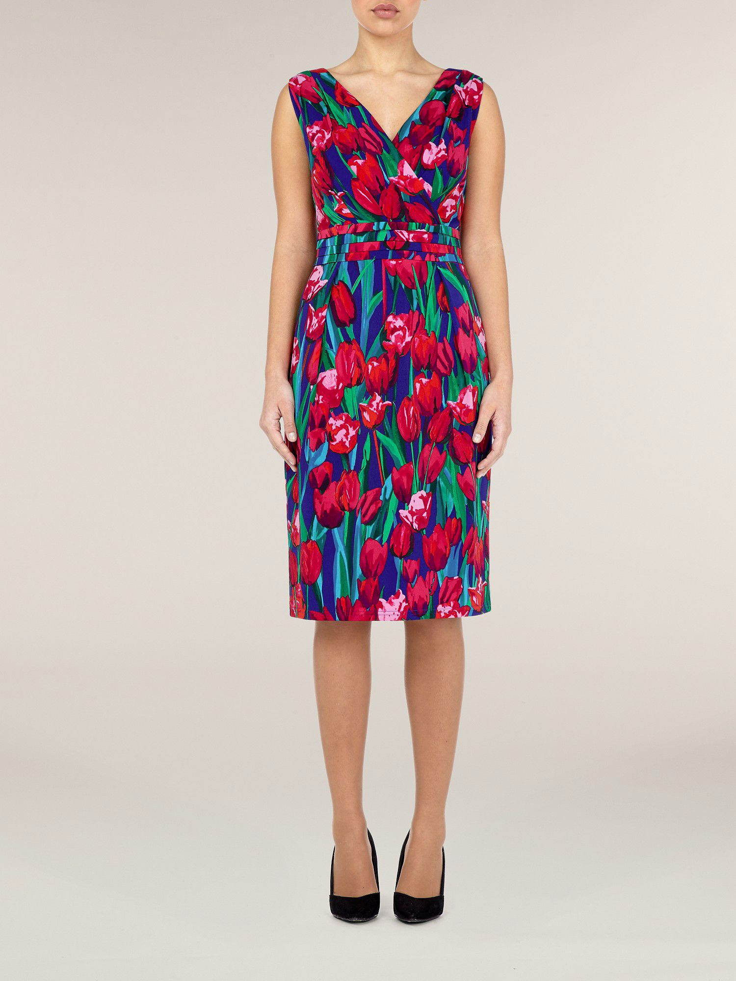 Tulip print shift dress