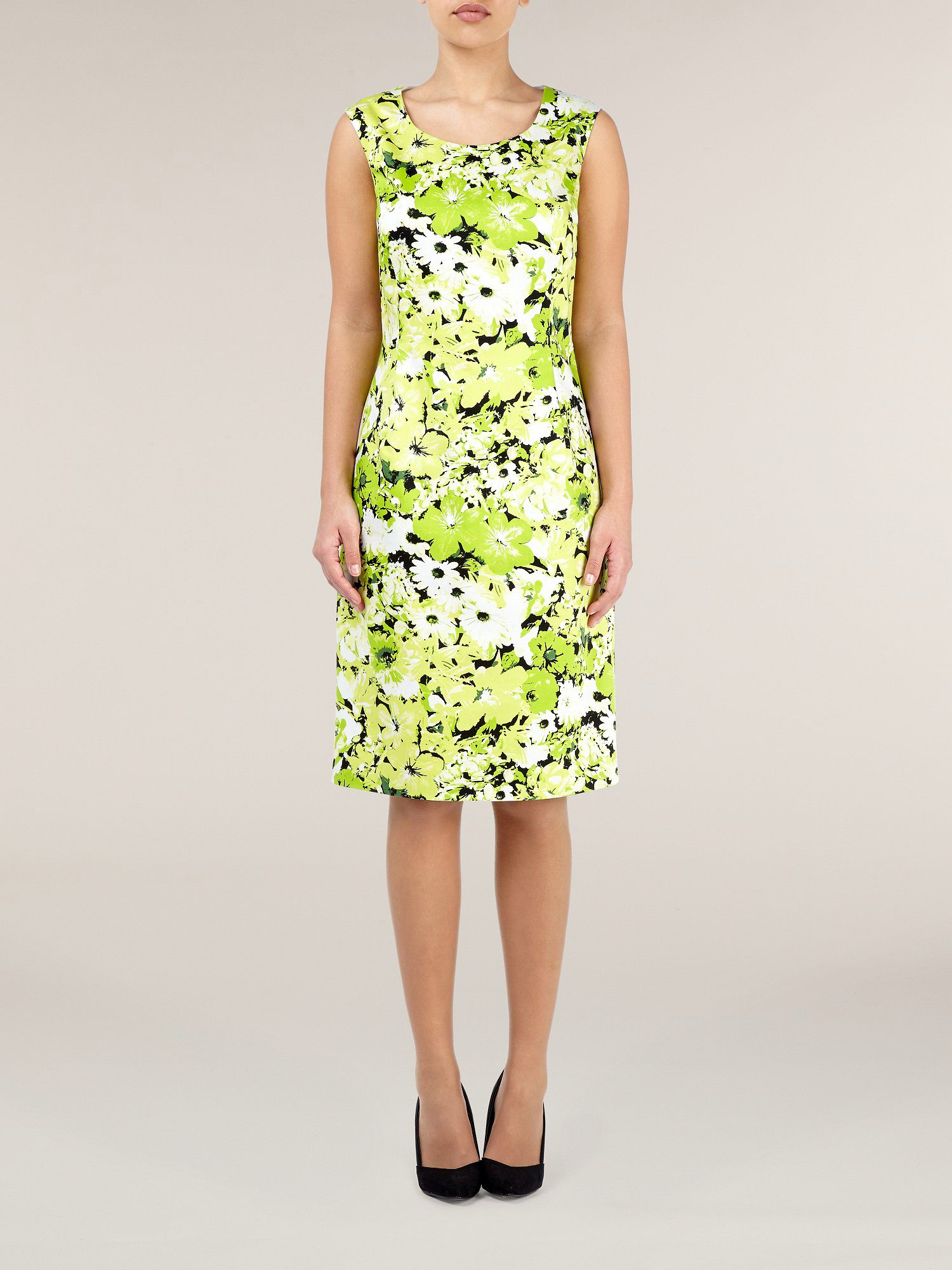 Citrus floral print shift dress