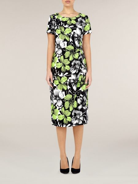 Precis Petite Lime floral print dress