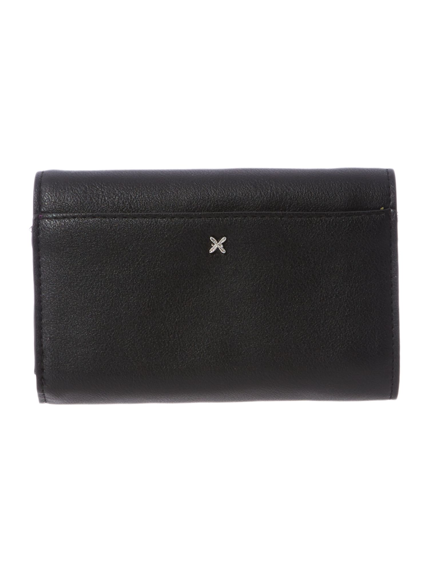 Christie black flap over purse