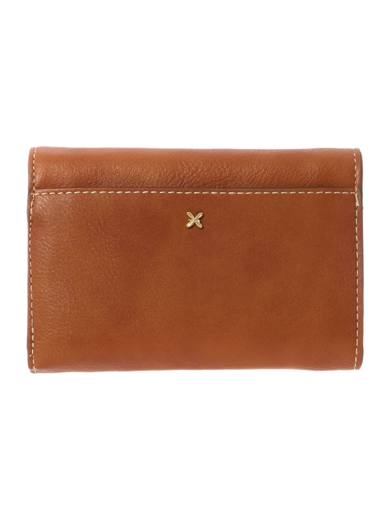 Christie tan flap over purse