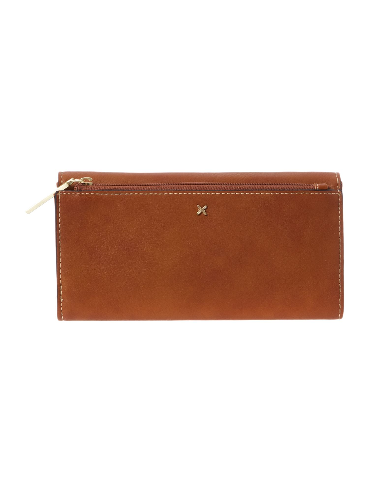 Sadie tan large flapover purse
