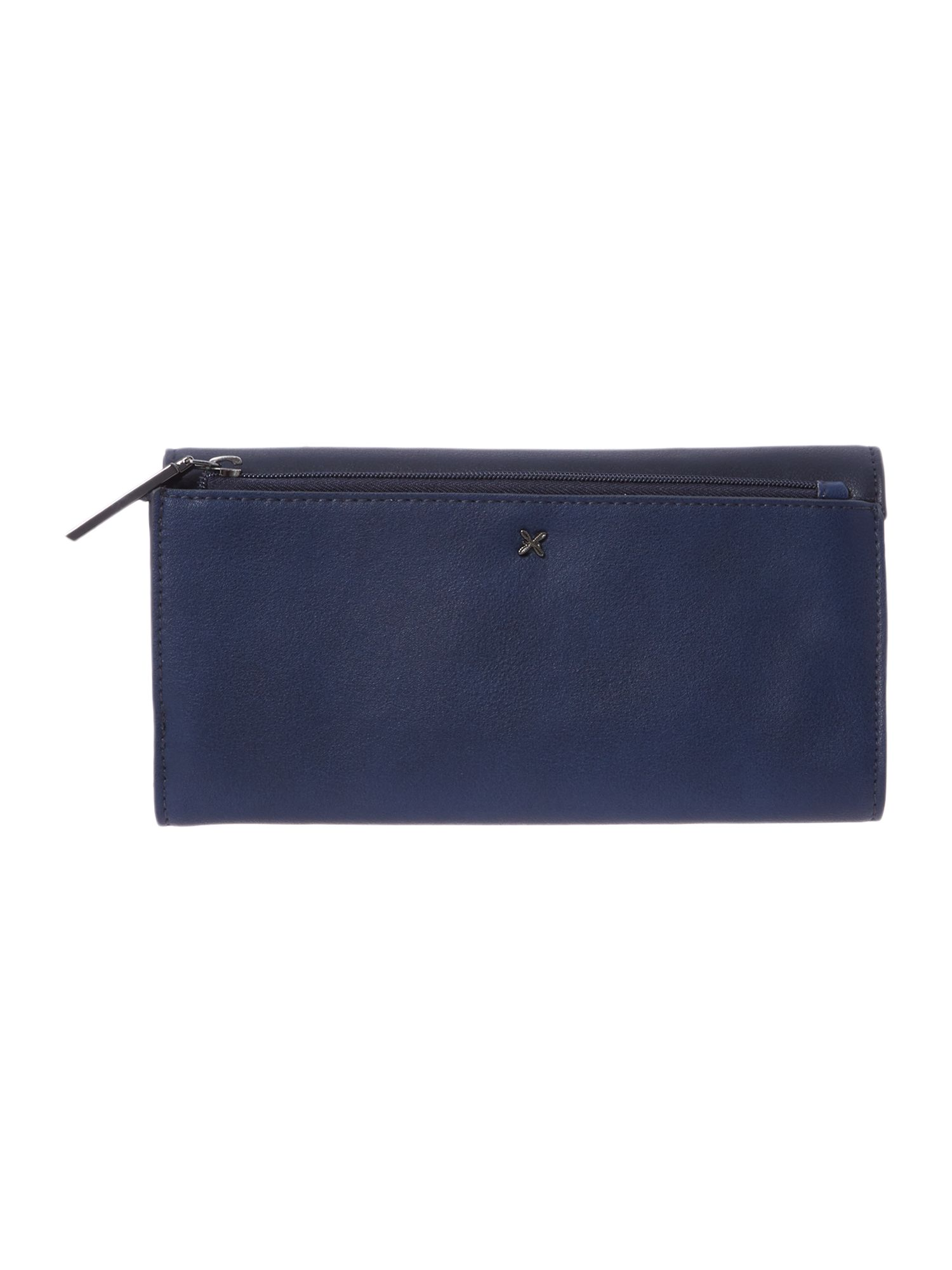 Sadie navy large flapover purse