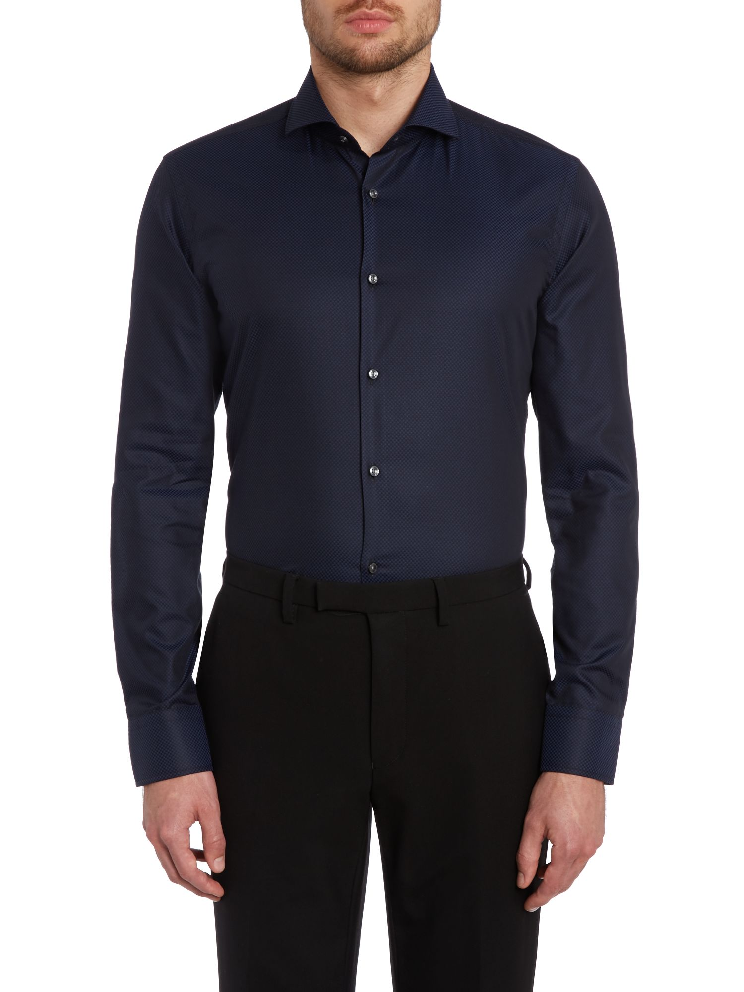 Jason slim fit tonal square shirt