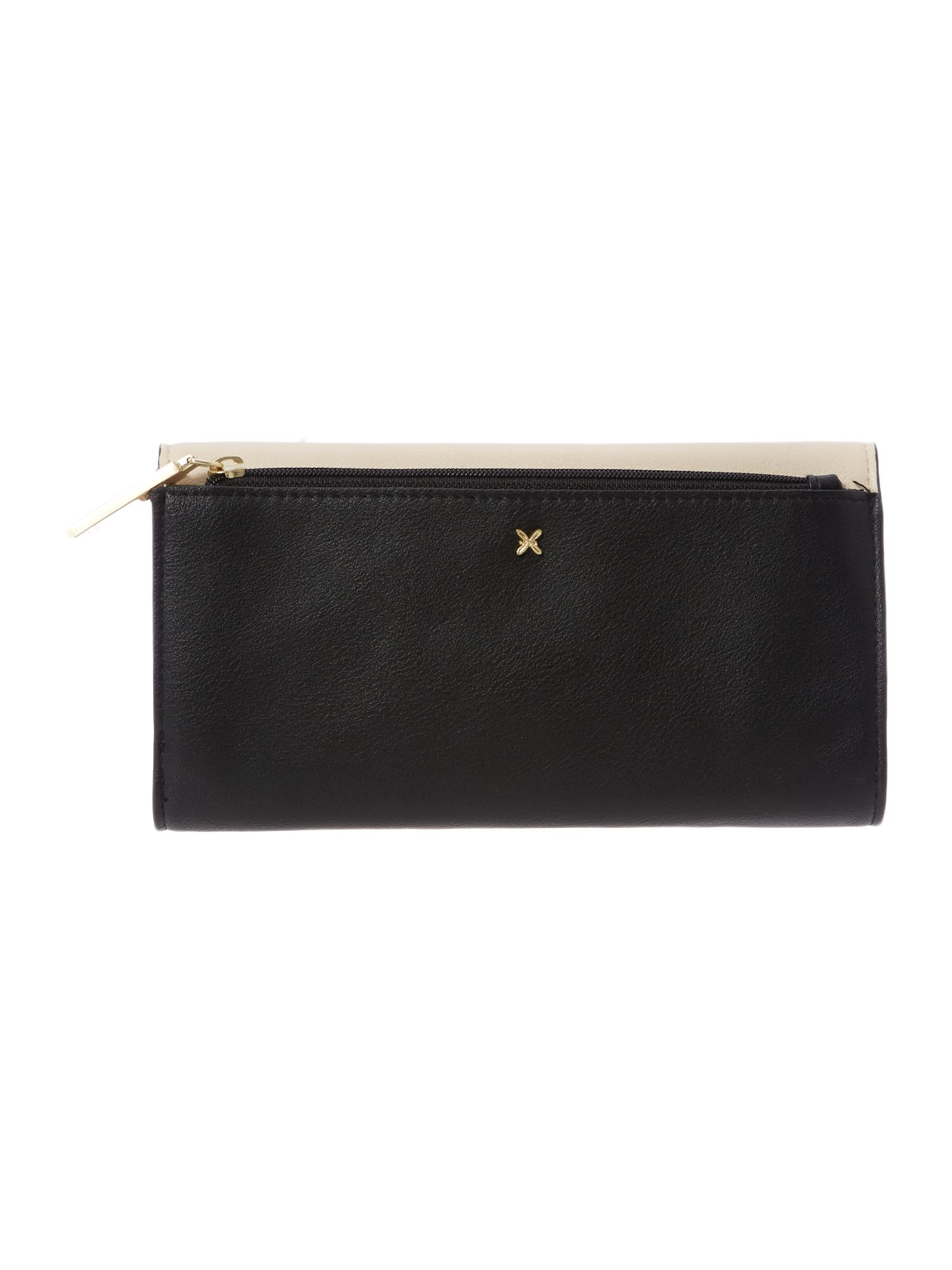 Sadie monochrome large flapover purse