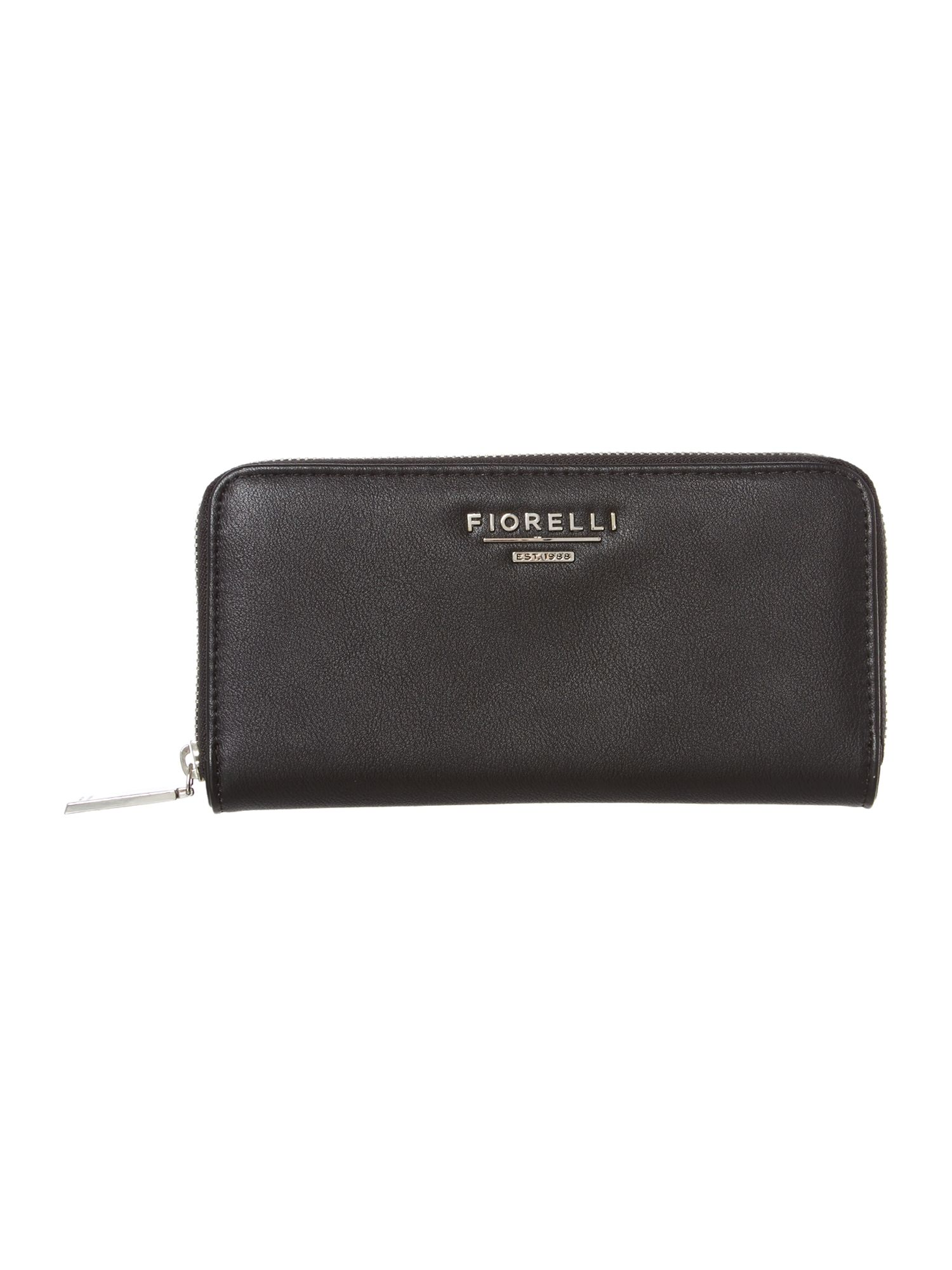 Stella black large zip around purse