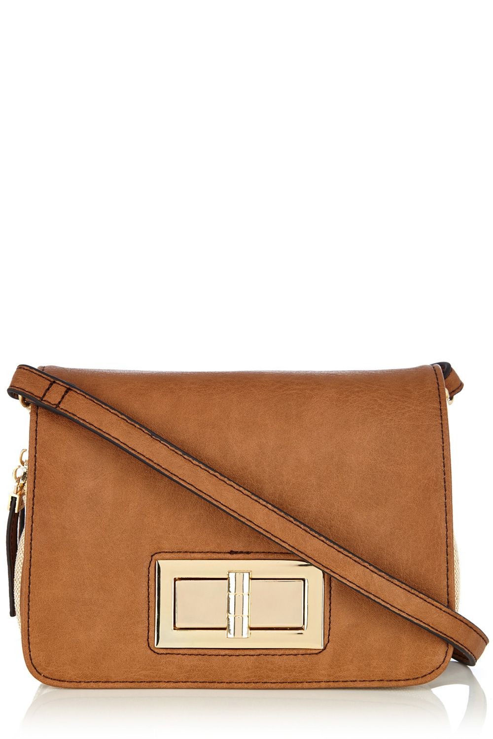 Canvas PU cross body bag
