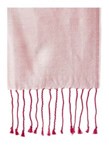 Double sided silk scarf