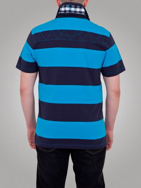 Raging Bull Two Stripe Rugby Shirt