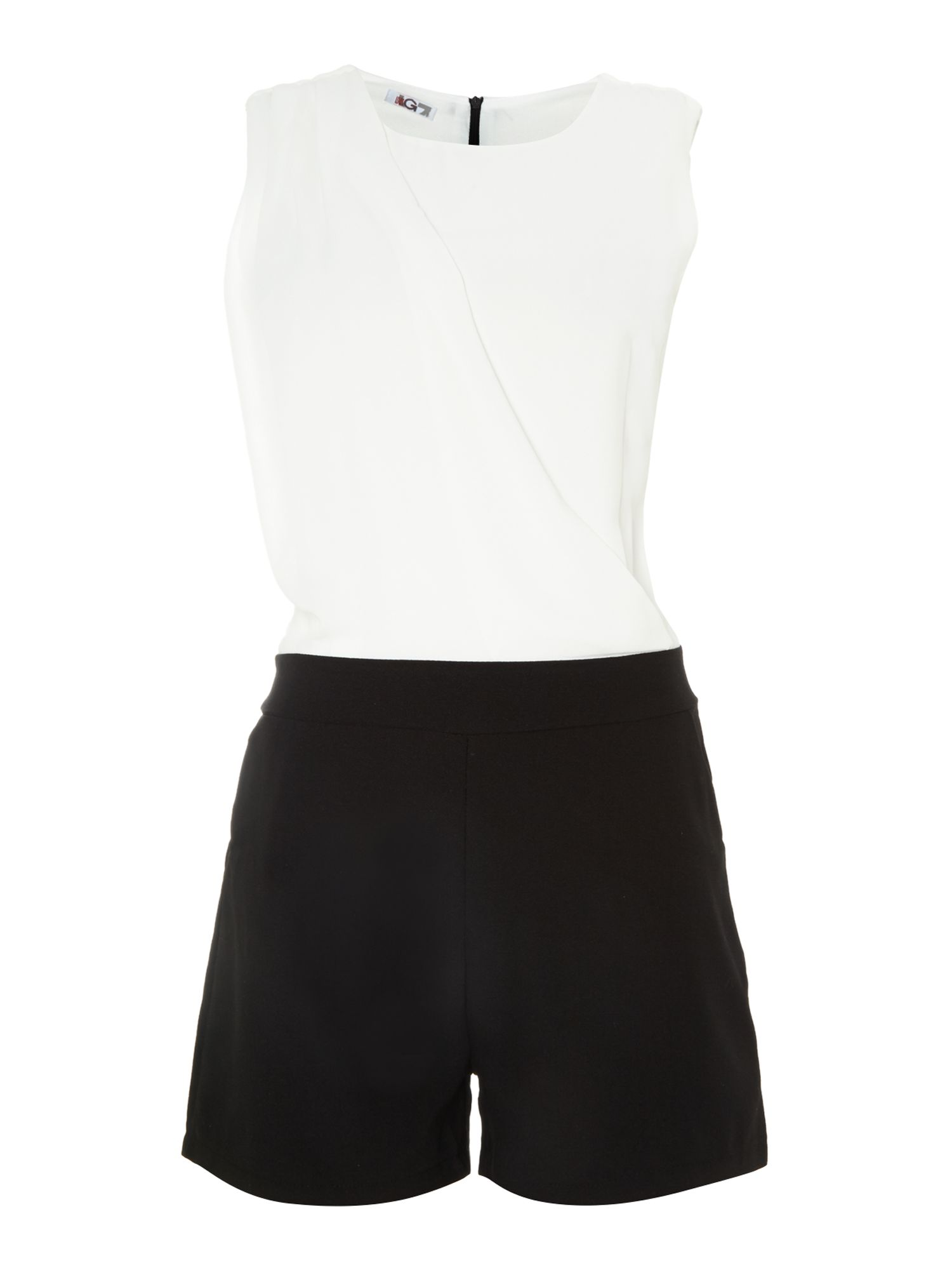 MONOCHROME CROSS FRONT PLAYSUIT