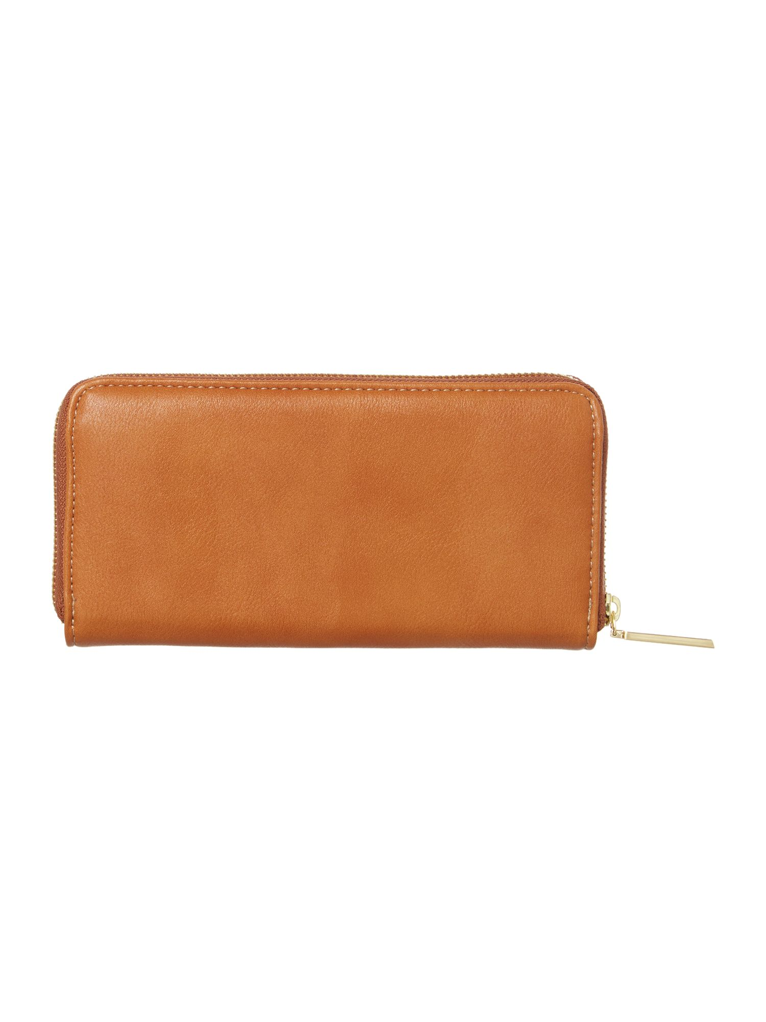 Stella tan large zip around purse
