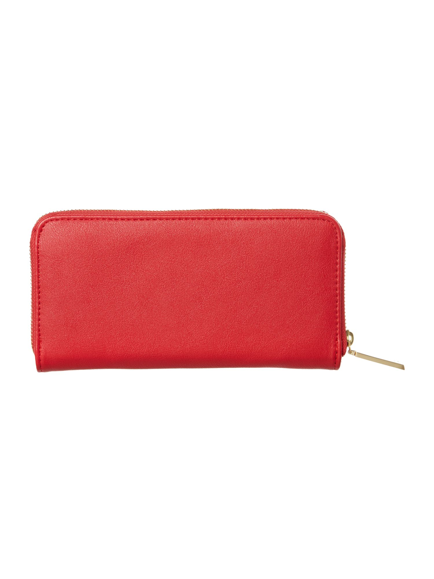 Stella red large ziparound purse