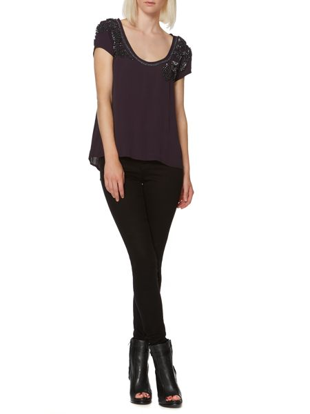 Label Lab Compact sequin embellished top