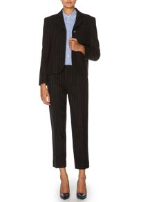 Luxury wool rich pinstripe jacket