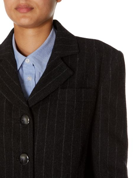 Linea Luxury wool rich pinstripe jacket