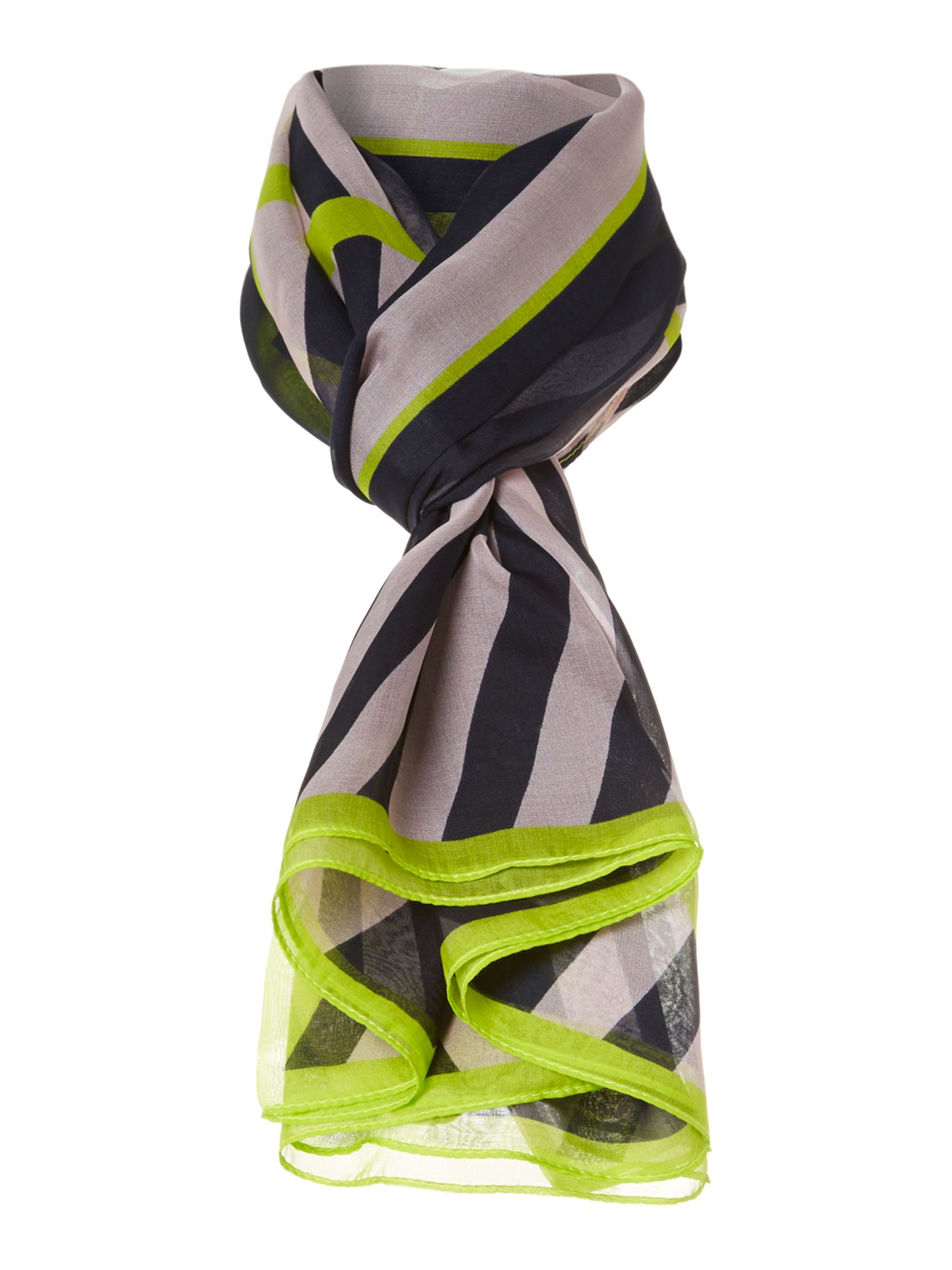 Candy stripe sheer silk scarf cape
