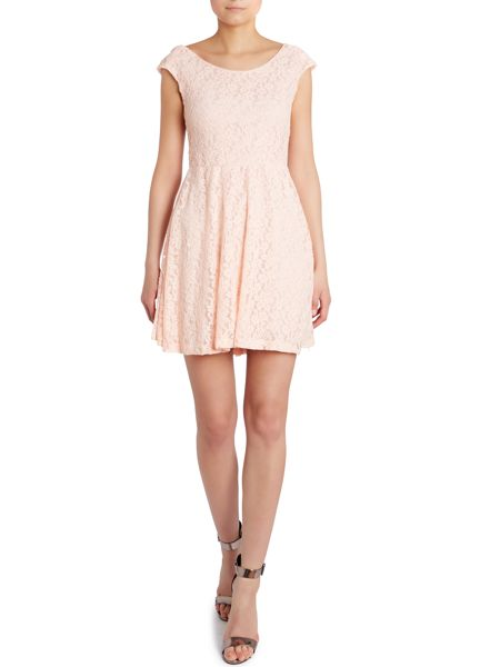 Wal-G Lace fit and flare dress
