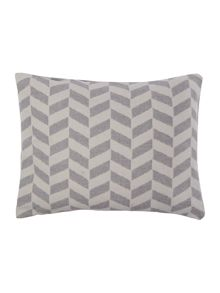 Flannel chevron cushion