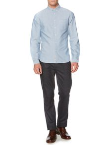 Eade plain chambray long sleeve shirt