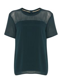 Halo sheer insert tee