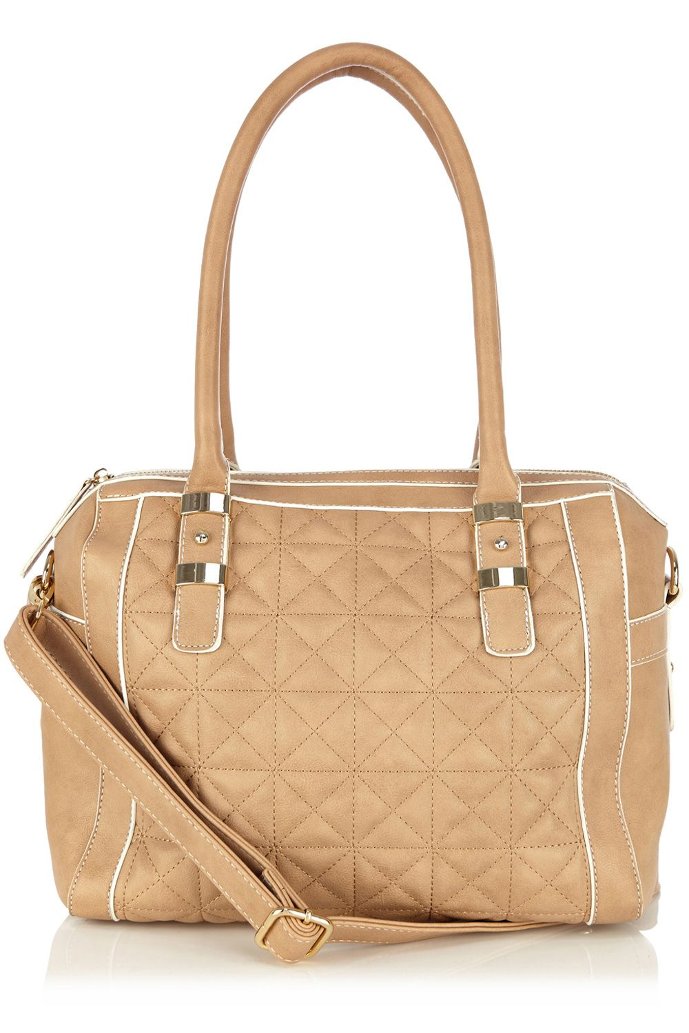 Carmen quilted barrel bag
