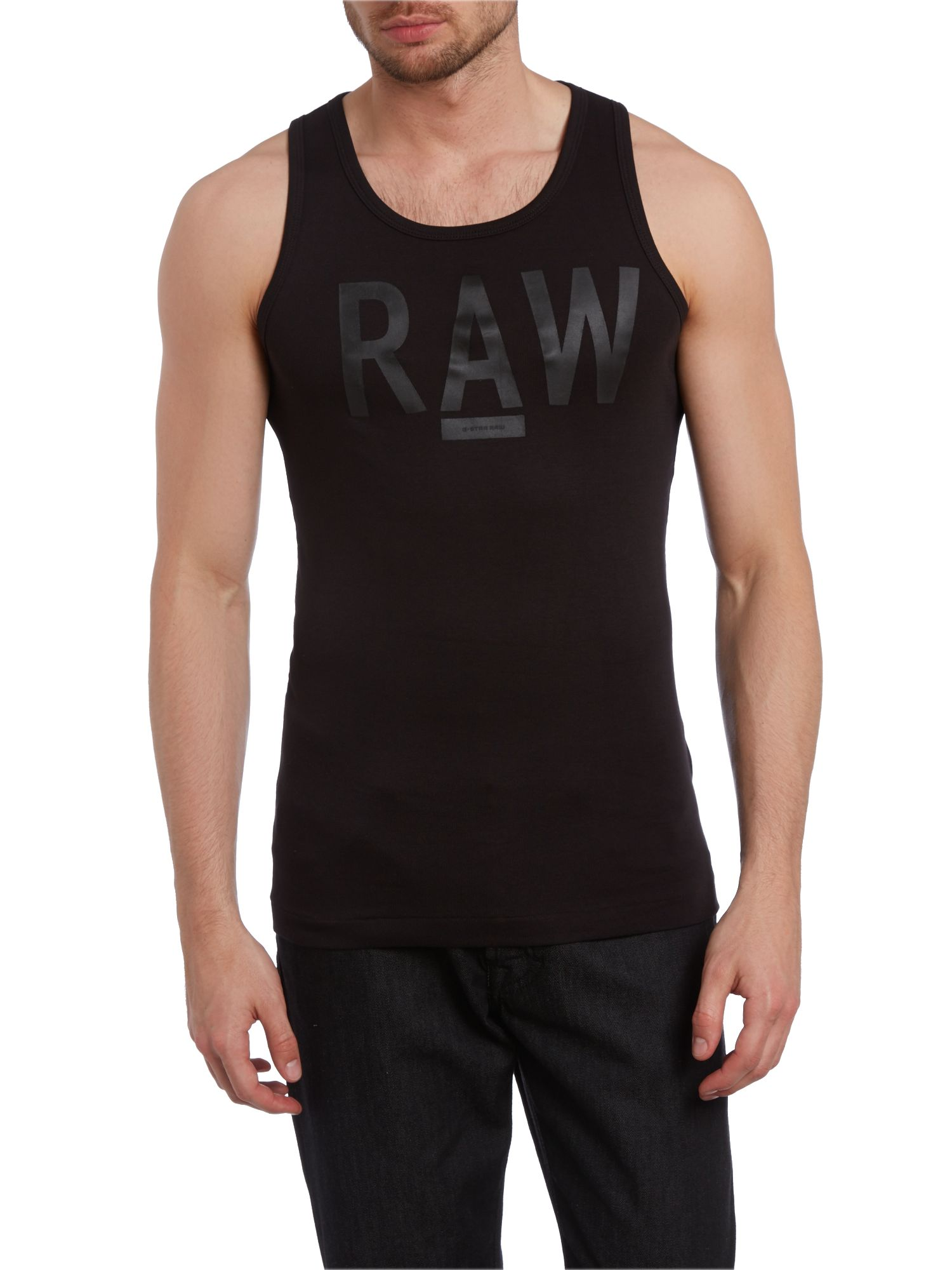 Raw pint scoop neck vest