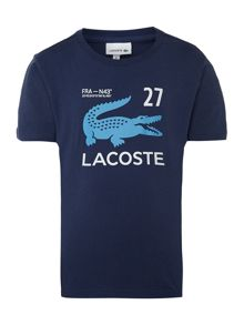 Boys sailing croc t-shirt