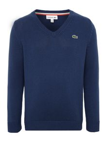 Boys small croc knitted jumper with wool