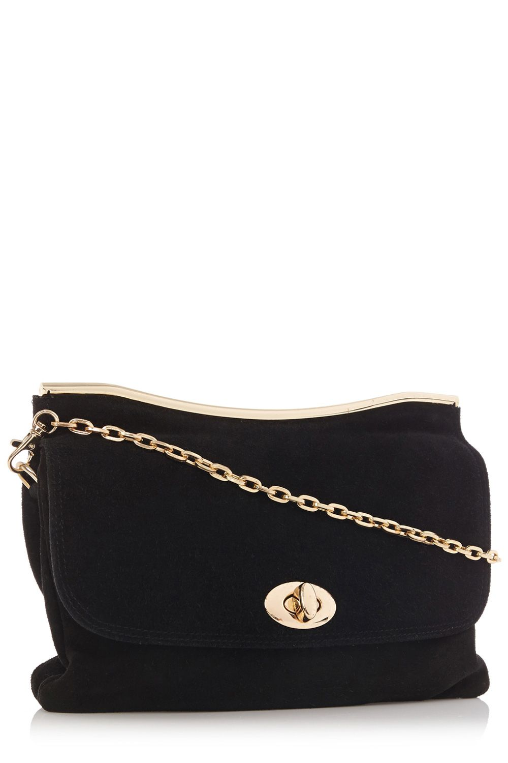 Caitlin leather bar clutch bag