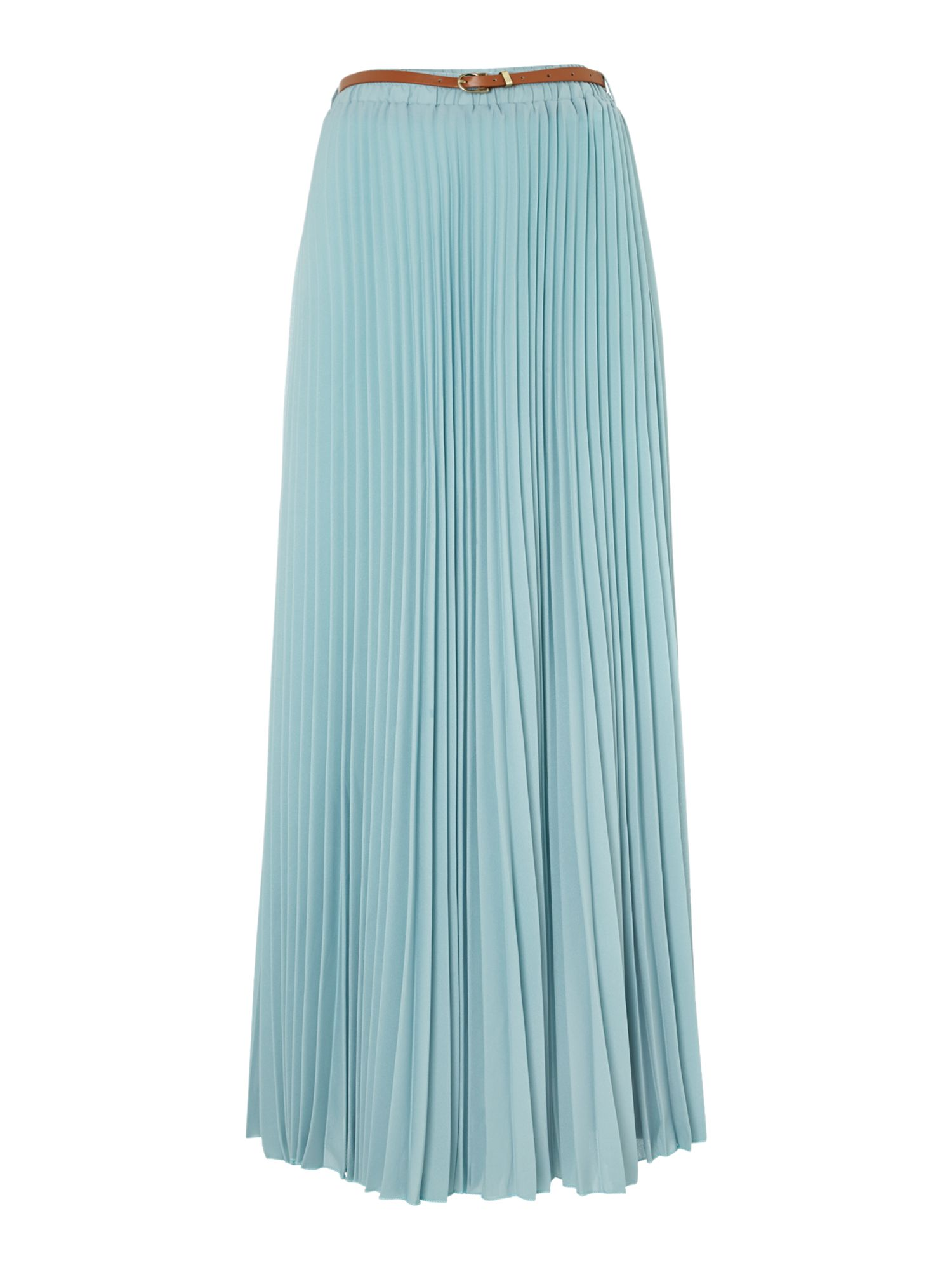 Pleated A-line maxi skirt