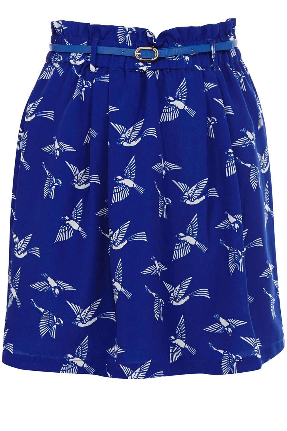 Flock Of Birds Paperbag Skirt