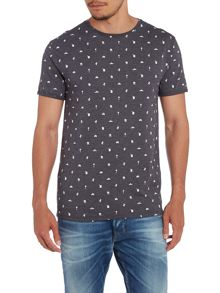 All over conversational print t shirt