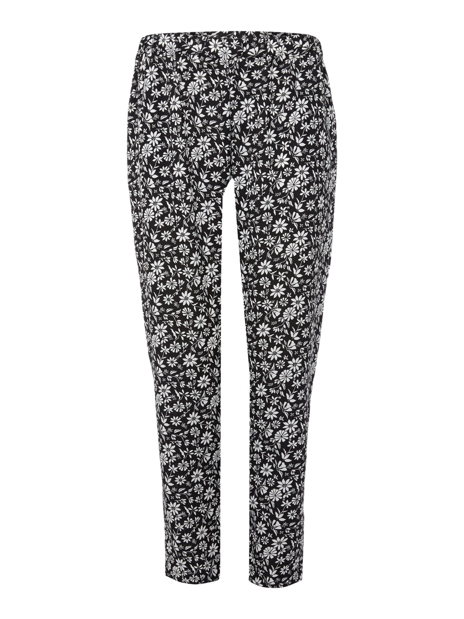 Print wide straight leg trouser