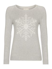 Novelty snowflake placement jumper