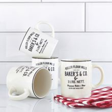 Thrift set of 4 text mug