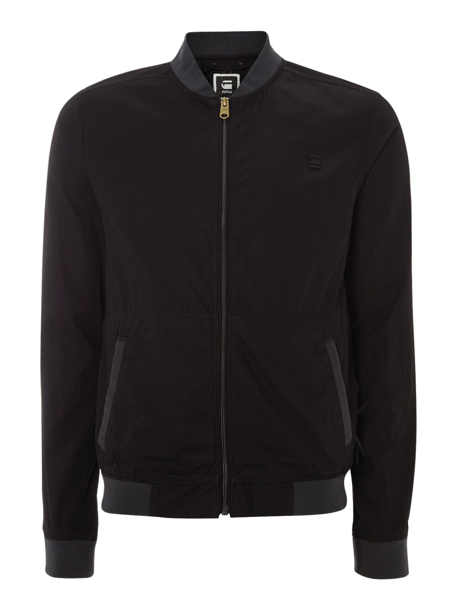 2 pocket zip up nylon bomber