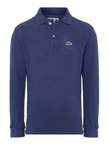 Boys long-sleeved classic polo shirt