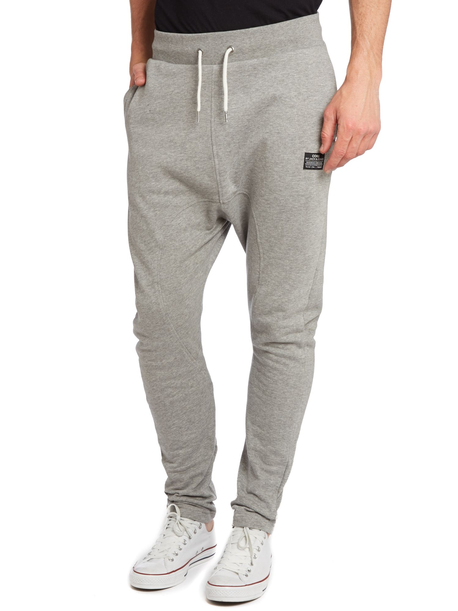 Drop fit tracksuit bottoms with slim leg