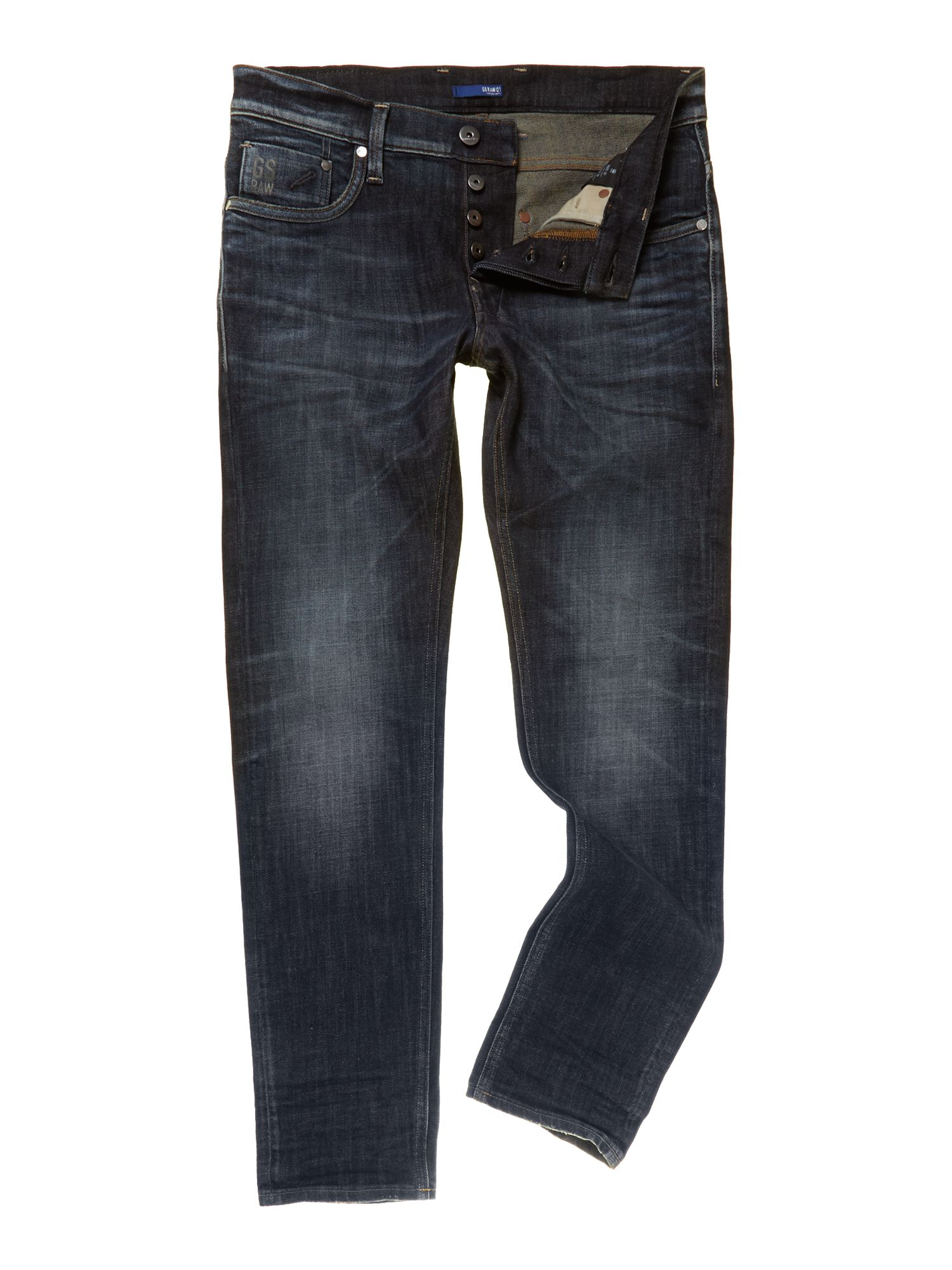 Defend super slim leg dark wash jeans