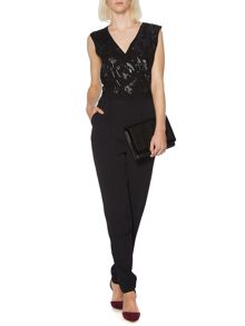 Sequin top jumpsuit