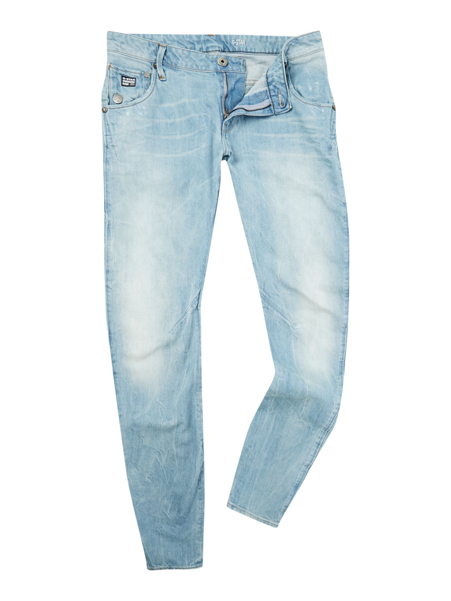 Arc slim fit light stonewash wash jeans