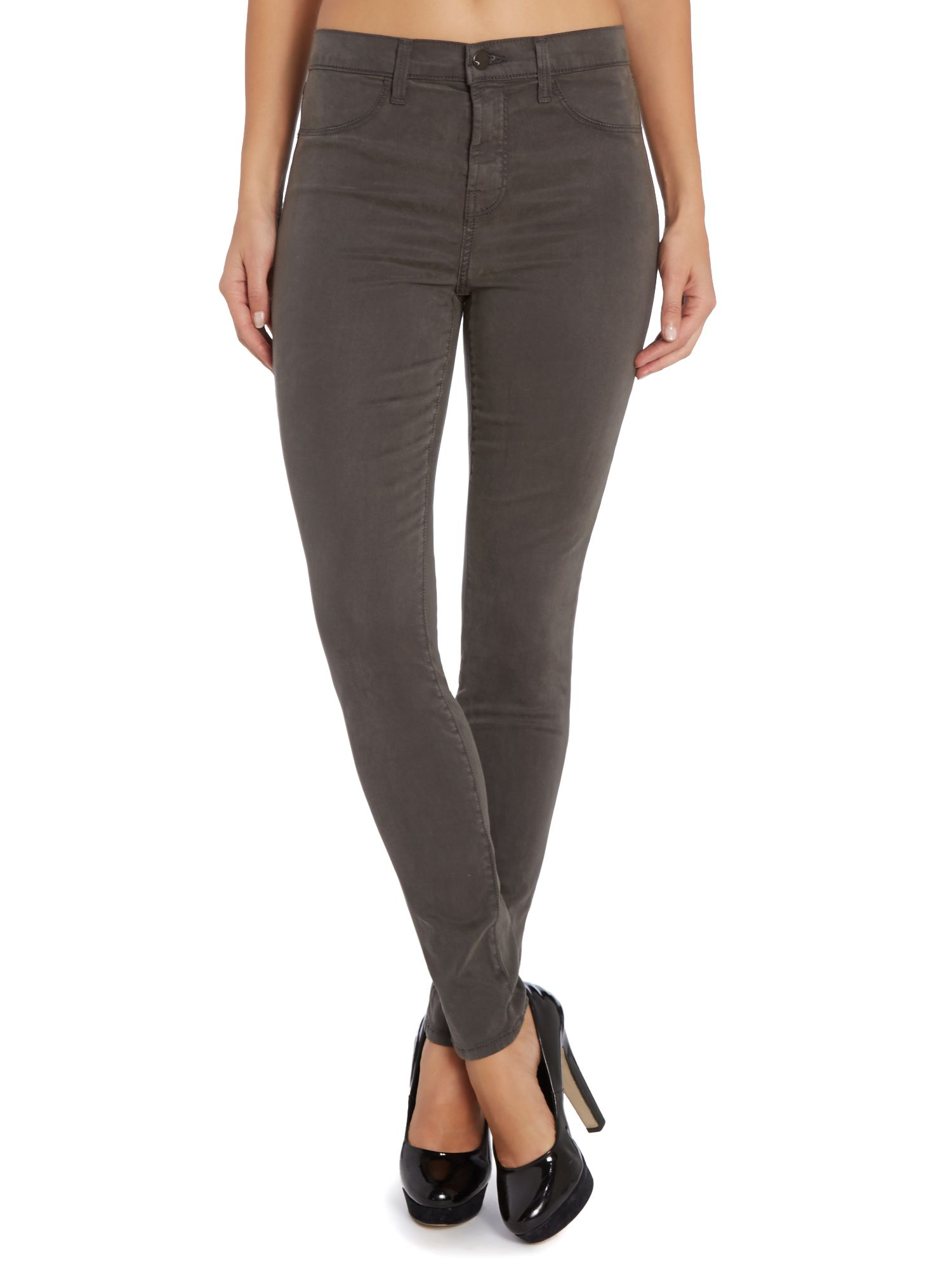 Maria high rise skinny jeans in armour