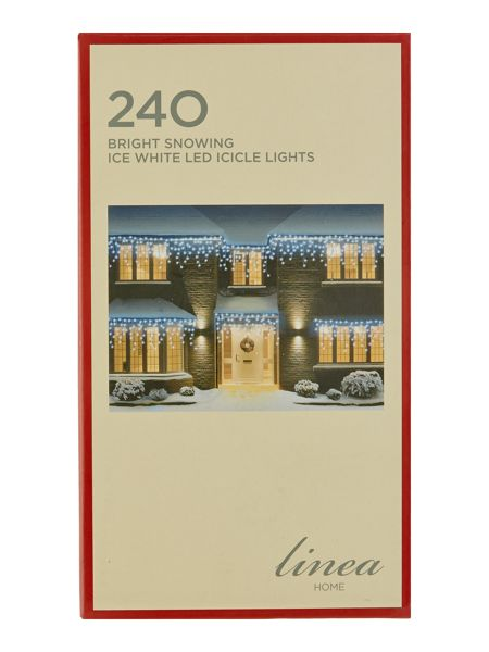 Linea 240 bright snowing ice white icicle lights