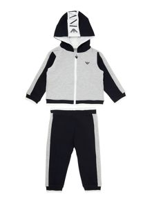 Boy`s large logo tracksuit set