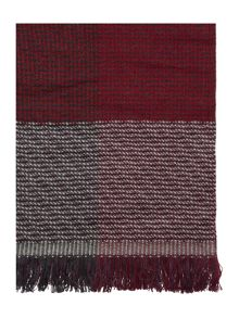 Multi square textured woven scarf