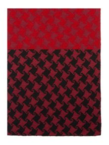 Contrast houndstooth scarf