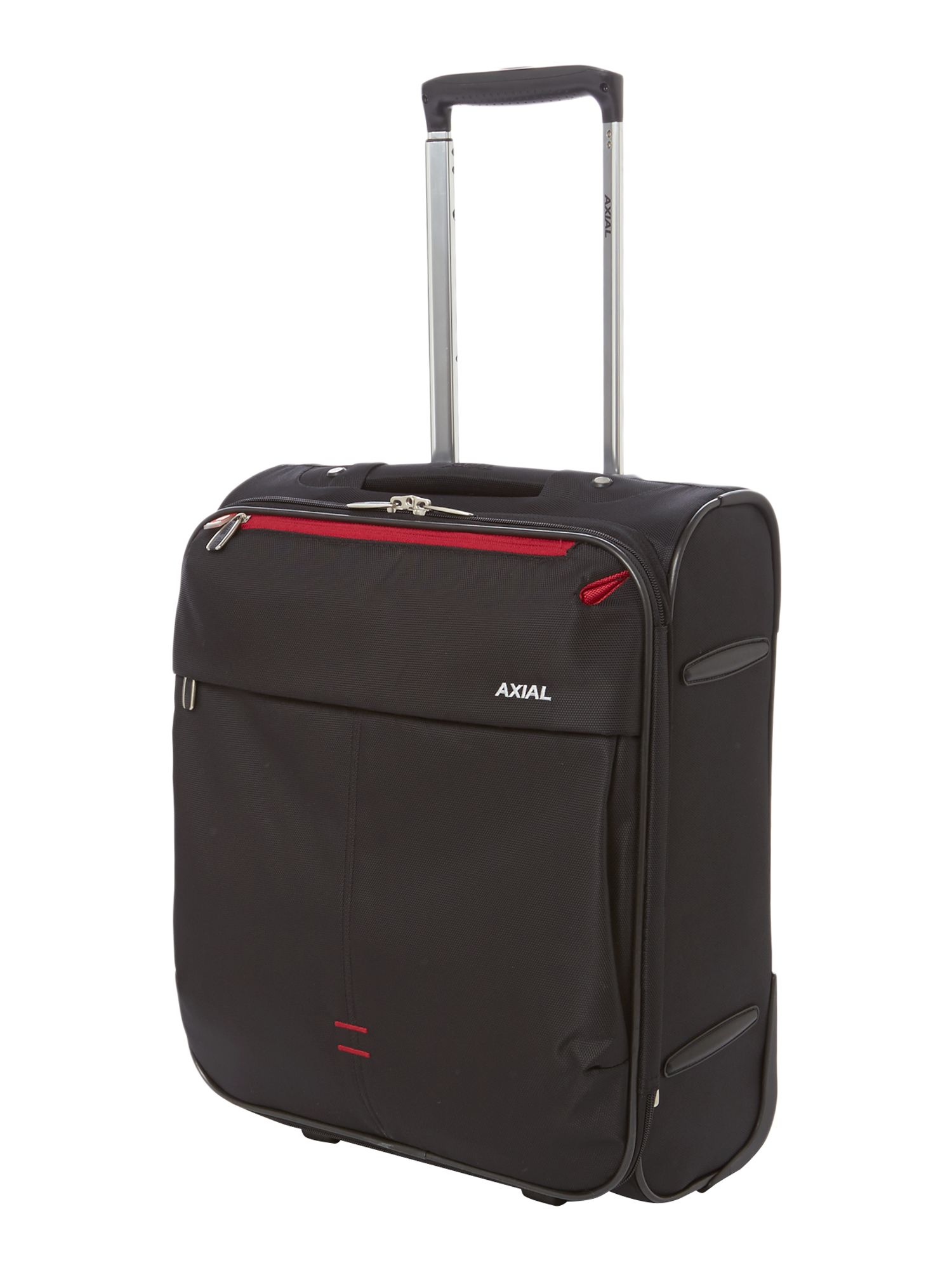 Axial black 2 wheels soft cabin suitcase