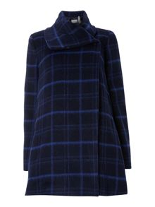 Marella Olea checked belted coat
