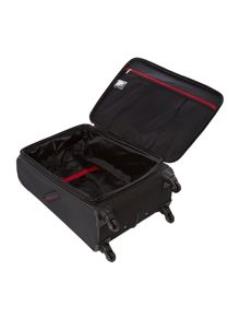 Delsey Axial black 4 wheels soft medium suitcase