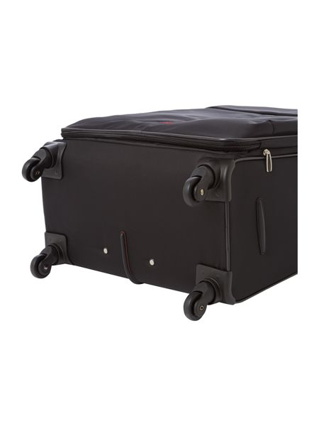 Axial black 4 wheels soft large suitcase